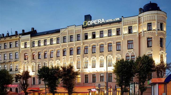 Riga, Hotel Opera, Façade hotel
