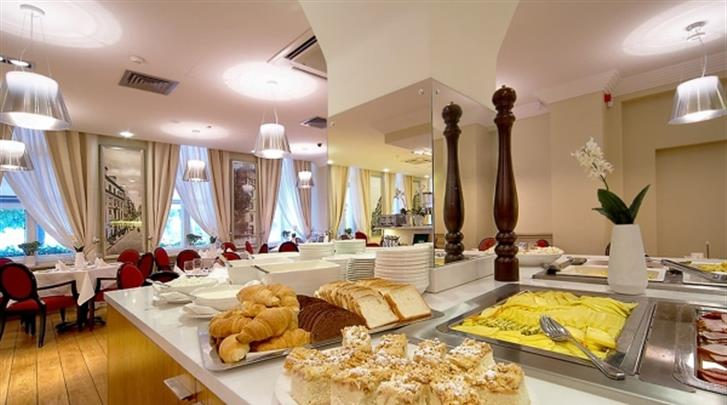 Riga, Hotel Opera, Ontbijtbuffet