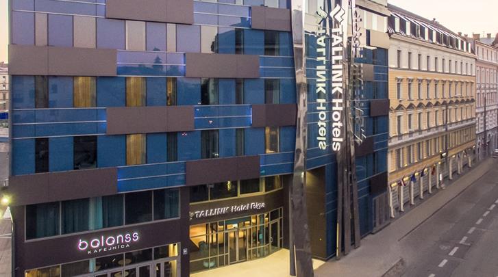 Riga, Hotel Tallink Riga, Façade hotel