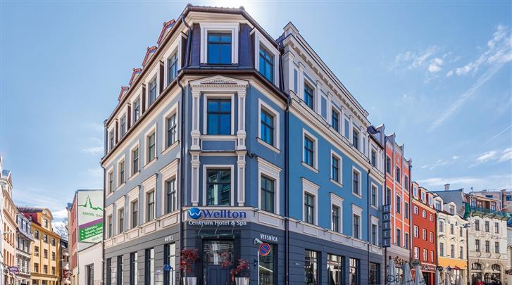 Riga, Hotel Wellton Centrum, Façade hotel