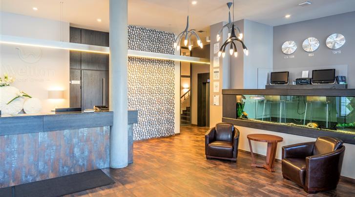 Riga, Hotel Wellton Centrum, Receptie