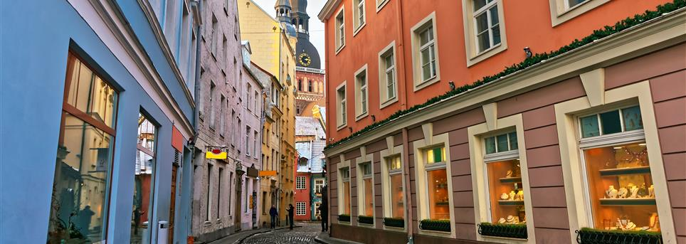 Riga, Winkelstraat Riga