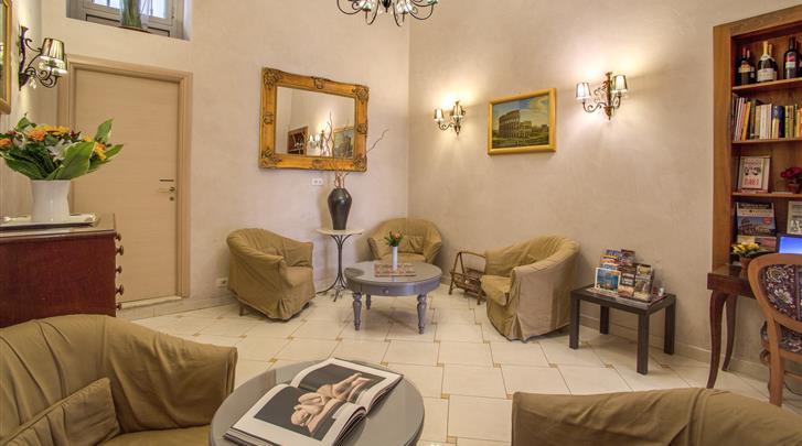 Rome, B&B Pablo, Lobby hotel Caravaggio