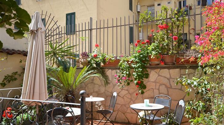 Rome, Hotel Alexis, Terras