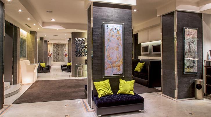 Rome, Hotel Ariston, Lobby