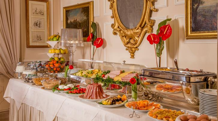 Rome, Hotel Canada, Ontbijtbuffet