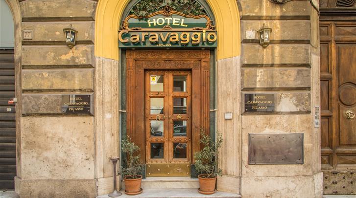 Rome, Hotel Caravaggio, Façade hotel