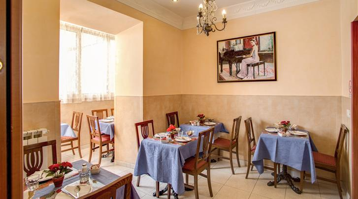 Rome, Hotel Caravaggio, Ontbijtrestaurant