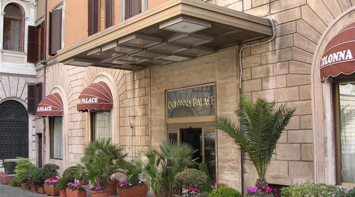 Rome, Hotel Colonna Palace, Façade hotel