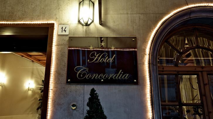 Rome, Hotel Concordia, Façade hotel