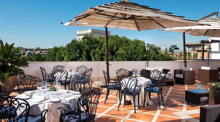 Rome, Hotel Donna Laura Palace, Terras