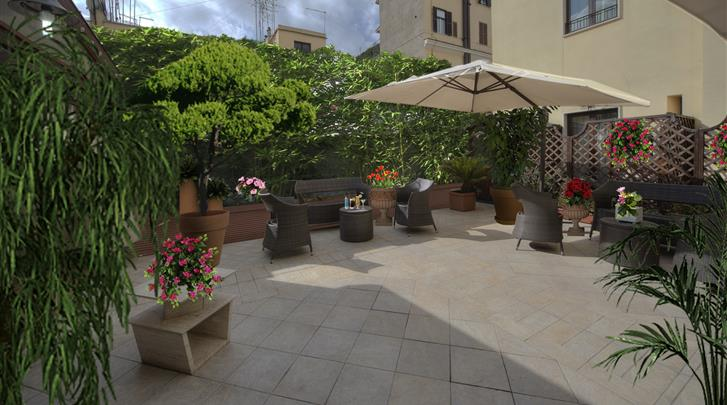 Rome, Hotel Galileo, Patio
