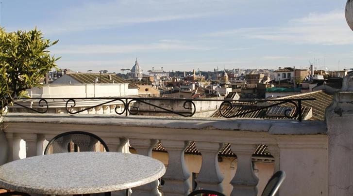 Rome, Hotel Genio, Dakterras
