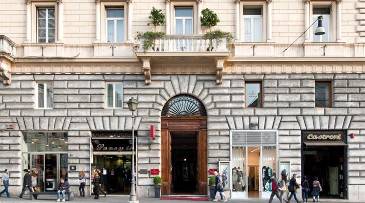 Rome, Hotel Giolli, Façade hotel