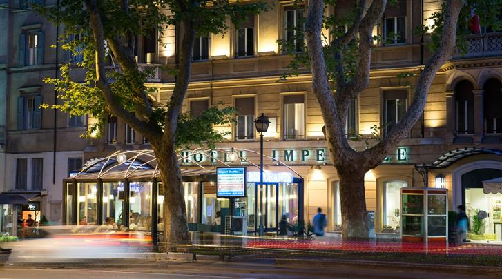 Rome, Hotel Imperiale, Façade hotel