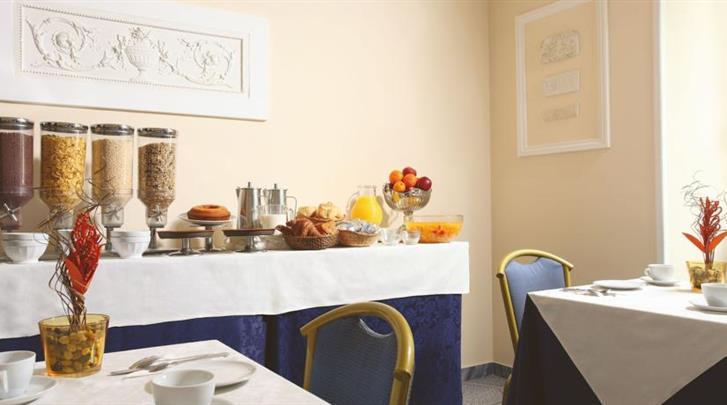 Rome, Hotel Kennedy, Ontbijtruimte