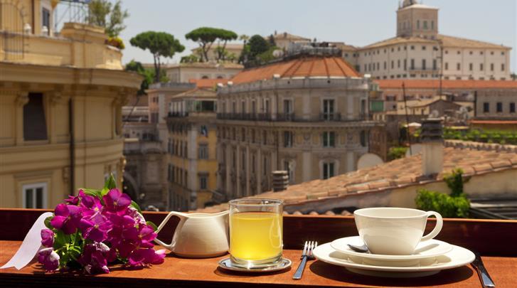 Rome, Hotel La Fenice, Dakterras