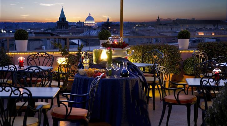 Rome, Hotel Marcella Royal, Terras