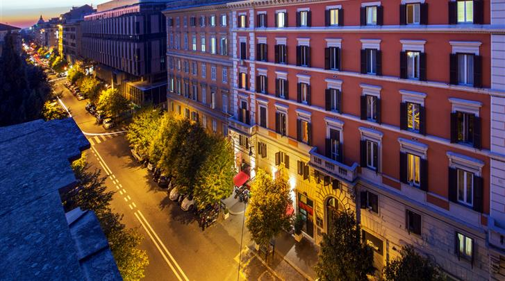 Rome, Hotel Oxford Rome, Façade hotel