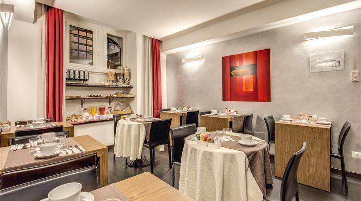 Rome, Hotel Rinascimento, Ontbijtruimte