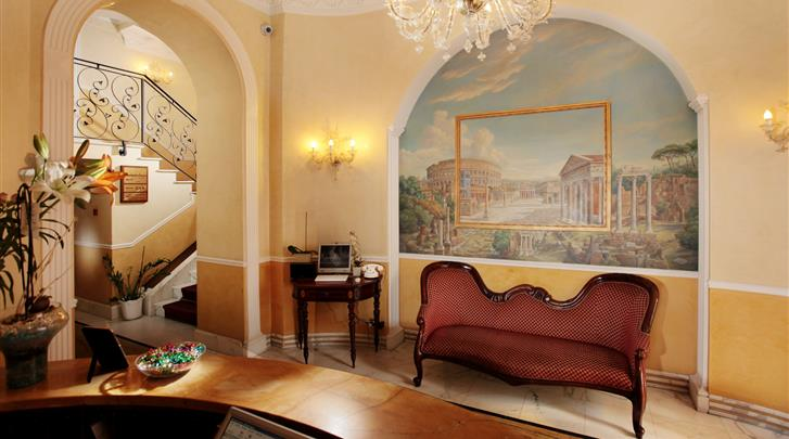 Rome, Hotel Solis, Lobby