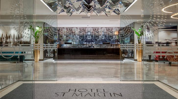Rome, Hotel St. Martin, Receptie