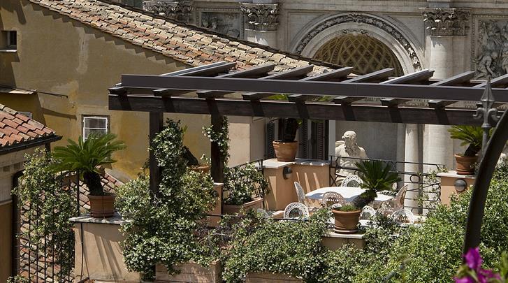 Rome, Hotel Trevi, Dakterras