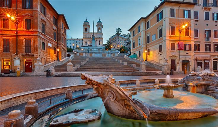 Rome, Piazza di Spagna en de Spaanse Trappen