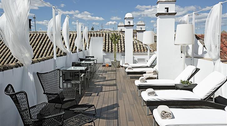 Sevilla, Hotel Las Casas del Rey de Baeza, Dakterras