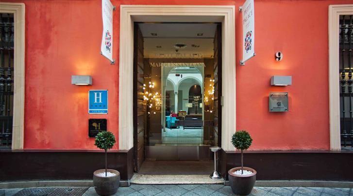 Sevilla, Hotel Petit Palace Marques Santa Ana, Façade hotel