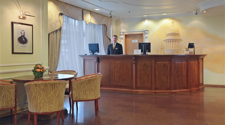 St. Petersburg, Hotel Dostoevsky, Lobby