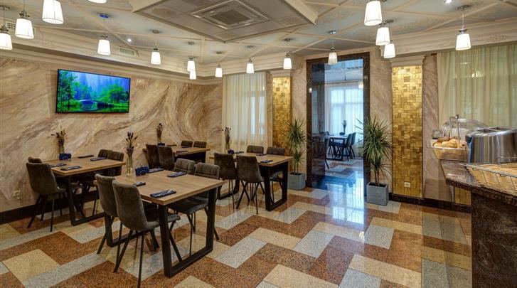 St. Petersburg, Hotel Margarita, Ontbijtruimte