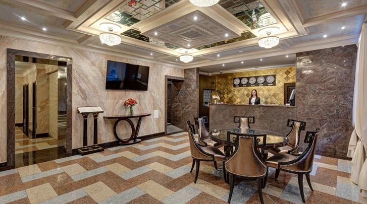 St. Petersburg, Hotel Margarita, Receptie