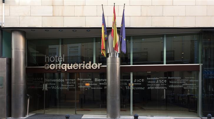 Valencia, Hotel Conqueridor, Façade hotel