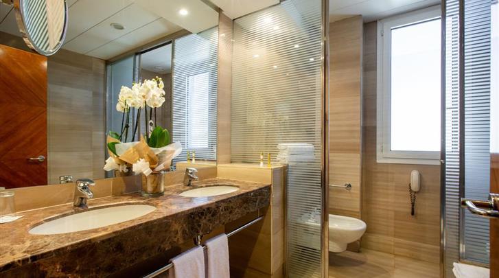 Valencia, Hotel Eurostars Acteon, Badkamer