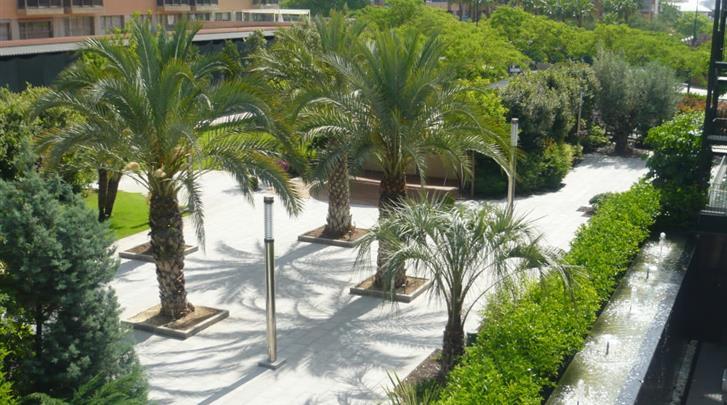 Valencia, Hotel Primus, Tuin
