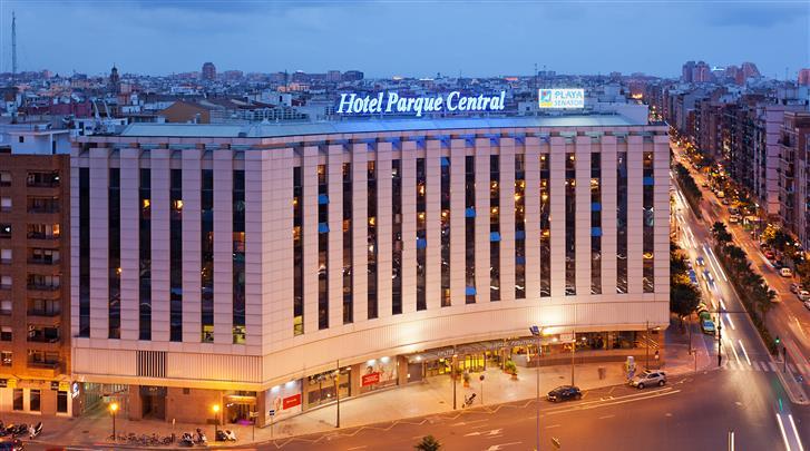 Valencia, Hotel Senator Parque Central, Façade hotel