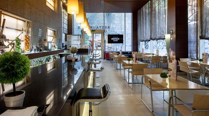 Valencia, Hotel Silken Puerta Valencia, Cafetaria