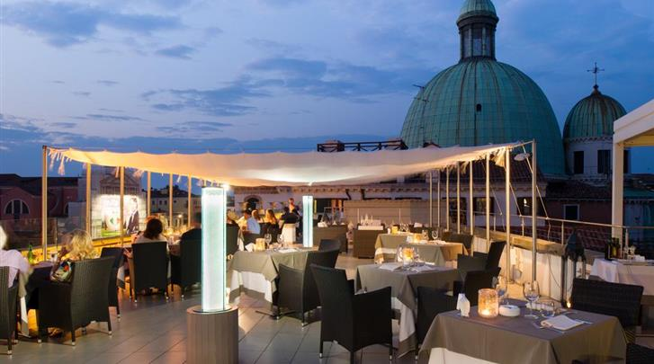 Venetië, Hotel Carlton Grand Canal, Dakterras