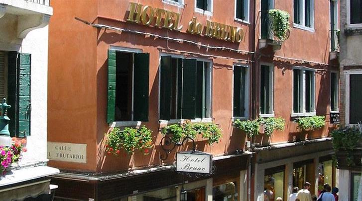Venetië, Hotel Da Bruno, Façade hotel