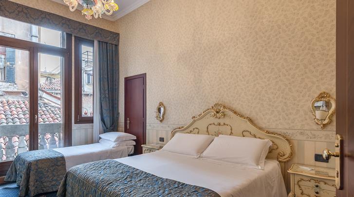 Venetië, Hotel Montecarlo, Standaard kamer met extra bed