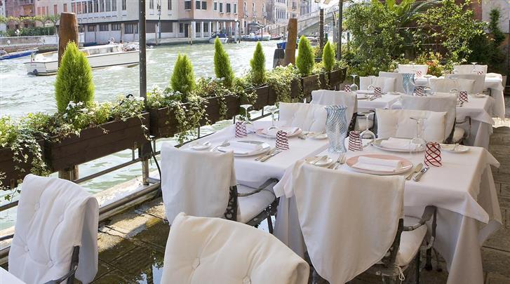 Venetië, Hotel Principe, Terras