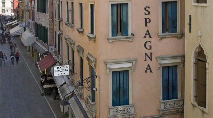 Venetië, Hotel Spagna, Façade hotel