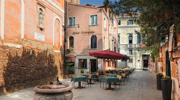 Venetië, Hotel Tintoretto, Terras