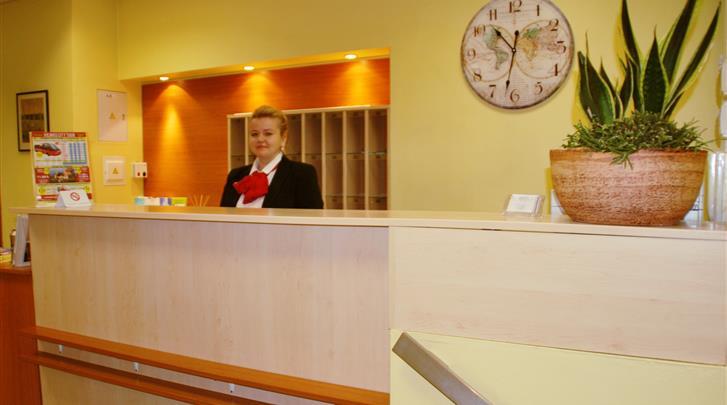 Vilnius, Hotel Mikotel, Receptie