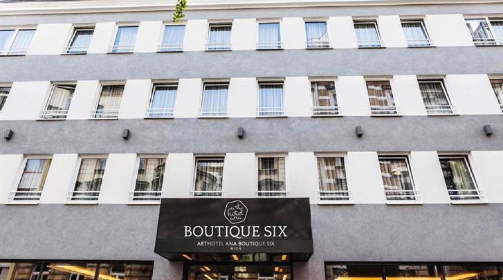 Wenen, Arthotel ANA Boutique Six, Façade hotel