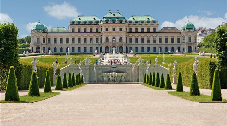 Wenen, Arthotel ANA Enzian, Kwartiertje lopen naar Schloss Belvedere