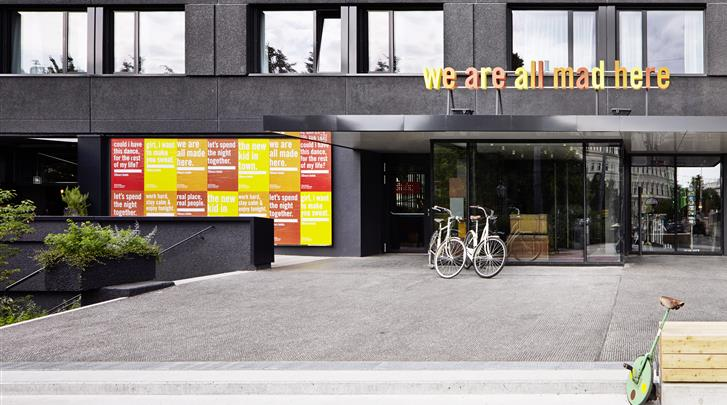 Wenen, Hotel 25hours Beim Museumsquartier, Façade hotel