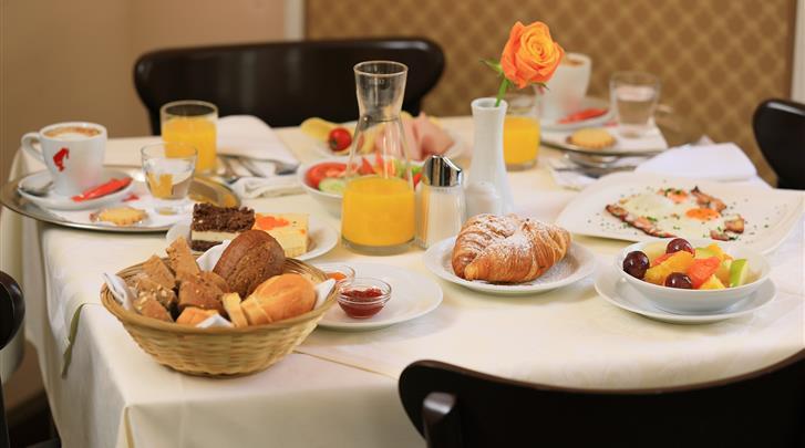 Wenen, Hotel Bellevue, Ontbijt