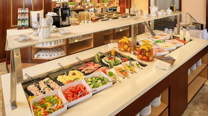 Wenen, Hotel Bellevue, Ontbijtbuffet